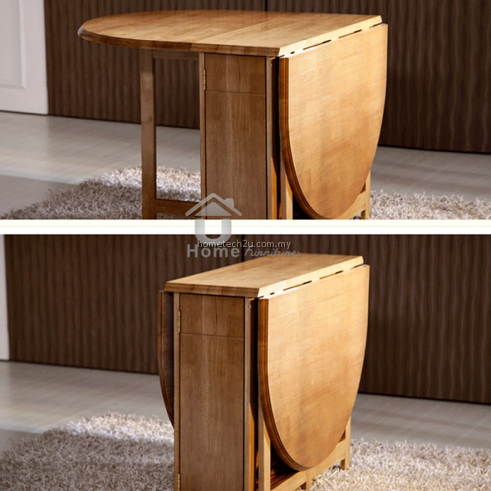 Butterfly Wooden Foldable Dining Table And 4 Folding