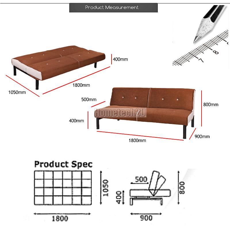 Carissa Stylish Microfiber Sofa Bed Brown 11street