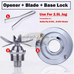 Butterfly Blender Jug Spare Parts Blade Base Opener Key Tool For B-591 B-592