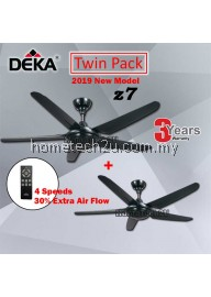 "DEKA Z7 Super Strong Air With 4 Speed (5 Blades) 56"" Decorative Ceiling Fan (Twin Pack)"