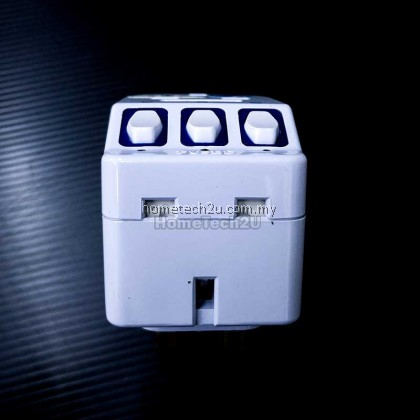 Eurosafe 3 Way Adaptor 13Amp Switch Socket witch Surge Protector