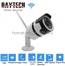 DAYTECH Wireless Outdoor IP Camera WiFi Surveillance Camera HD 1080P Waterproof IR Bullet Night Vision Two-way Audio DT-H03