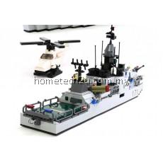 GUDI Military Educational Frigate Building Blocks Toys For Children Kids