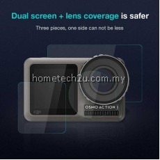 [3pcs] DJI OSMO ACTION Screen Tempered Film Sports Camera Protective Film Set Pocket Camera Accessories Screen Protector