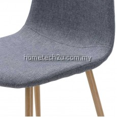 [4pcs] LAVELLE DC 7271 Mid-Century Modern Upholstered Dining Chair (BLUE)
