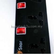 SUNSTAR 3 GANG 5 GANG MULTI EXTENSION TRAILING SOCKET (2M/5M)