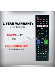 SHARP Smart LED TV Remote Control Compatible Netflix Youtube Button Replacement