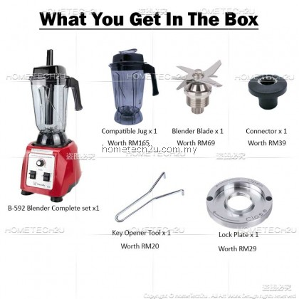 Butterfly High Performance Commercial Blender B-591 1680w[FREE COMPLETE ACCESSORIES]