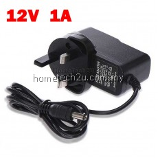 AC TO DC 12V 1A UK SWITCHING POWER SUPPLY POWER ADAPTER CONVERTER For MYTV DVB-T2 Decoder TV Android Box MXQ PRO M8S CCTV LED Strip etc
