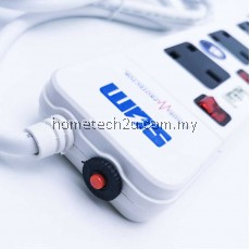 SUM 3 Way 2USB 13A Extension Trailing Socket with Surge Protector and 2meter Cable [SIRIM APPROVED]