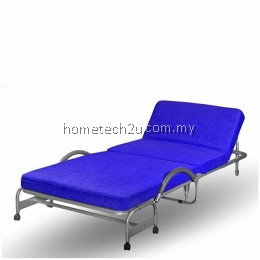 Hometech2u Foldable Bed With Head Reclining Function Blue