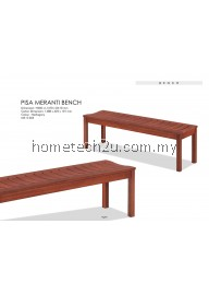 Meranti 58' Long Wooden Bench Chair (Free Shipping)