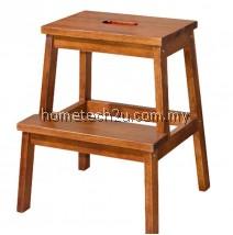 Wooden Step Stool Chair (2 Steps) - Oak