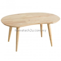Peanut Bean Shape Wood Coffee Table - Natural