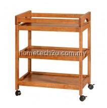 Restaurant Hotel Room Drink Car Wood Drink Trolley Wooden Bar Wine Trolley Wheel - Oak
