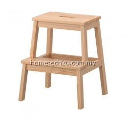 Wooden Step Stool Chair (2 Steps) - Natural