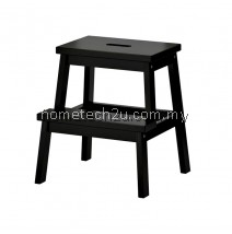 Wooden Step Stool Chair (2 Steps) - Cappuccino