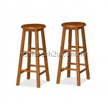 "x 2 Units UHome 29"" inch Wooden Pub Bar Counter Stool Chair-Oak Colors"