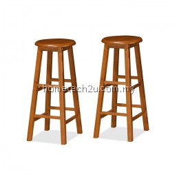 """x 2 Units UHome 29"""" inch Wooden Pub Bar Counter Stool Chair-Oak Colors"""