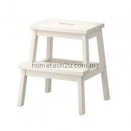 Wooden Step Stool Chair (2 Steps) - White