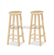 "x 2 Units UHome 29"" inch Wooden Pub Bar Counter Stool Chair-Natural Colors"