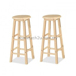 """x 2 Units UHome 29"""" inch Wooden Pub Bar Counter Stool Chair-Natural Colors"""
