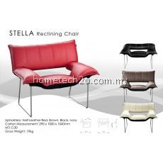 Hometech Modern Design Reclining Arm Chair (Half Leather)