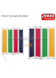 Italy Screen Divider With 4 Panel Fabric Background