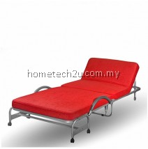 Hometech2u Foldable Bed With Head Reclining Function Red
