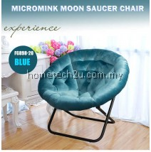 KOSI FLOWER  Foldable Micromink Moon Saucer Relax Chair Sofa [100% Made In Malaysia]