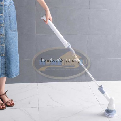 NEW UPGRADED-Multi Purpose Wireless Electric Powered Spin Scrubber 4 Scrubbing Brush Head
