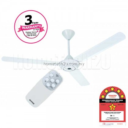 Khind 3 Blade Ceiling Fan with Remote Control 60'' CF630R (2 Sets/Box)