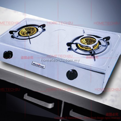 HOMELUX DOUBLE BURNER WHIRLWIND CYCLONE CAP BURNER GAS STOVE COOKER HPS-1605 [Sirim Approved]