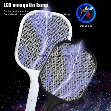 Sapu nyamuk Vertical Electric Mosquito Swatter USB Rechargeable Dual Modes Mosquito Swatters Kill Fly Bug Base charger