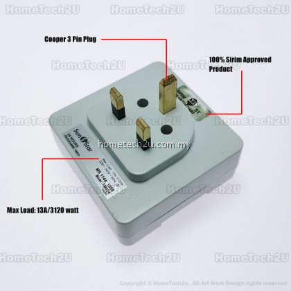 Sunstar 13A 24 Hours Analog Plug In Timer Switch (Sirim Approved)