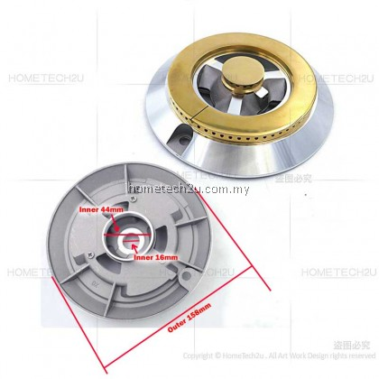 Gas Stove Burner Head Glass Hob Burner Cap Inner Outer Ring For Cornell Tungkung Dapur Gas Kaca Spare Parts