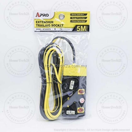 (Sirim)APRO Extension Plug Trailing Socket Wire Cable Soket Extention with Surge Protection