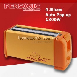 Pensonic 4 Slice Pop Up Bread Toaster AK-4 White