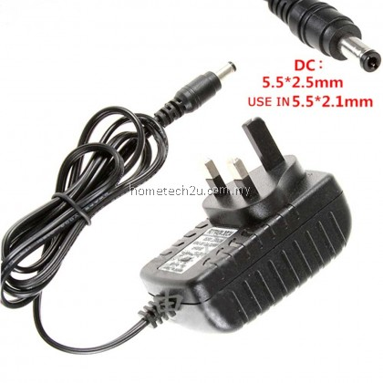 Malaysia 3 Pin AC to DC (5.5*2.5mm) 12V 2A Switching Power Supply Adapter DC Power Adaptor