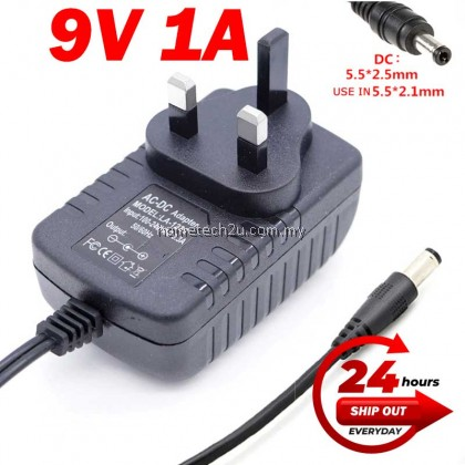 Malaysia 3 Pin AC DC (5.5*2.5mm) 12V2A 5V1A 5V2A 6V9V1A 9V2A 12V1A 12v3A Switching Power Supply Adapter DC Power Adaptor