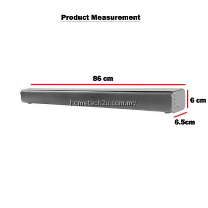 """Denn 2"""" Soundbar Speaker With Remote Control DLA-SB1800B (Bluetooth/Aux/Hdmi/Optical)"""
