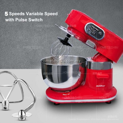 Homelux Stand Mixer Heavy Duty 6.5L 2.5KG 1000W Professional Baking Mixer Cake Mixer Low Noise Sirim HSM-F612 揉面机 打蛋机