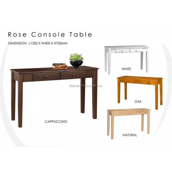 Rose 4 ft console table with 2 drawers for 5 foot console table