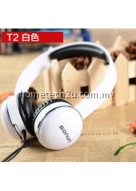 Sonun T2 headphone headset earphone with Microphone for iphone ipad PC