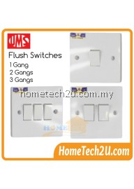UMS Flush Switch 1 Gang 2 Gang 3 Gang (1Way)