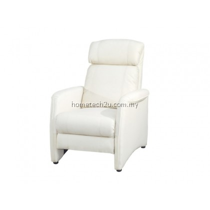 LAVelle 1 Seater Push Back Recliner Sofa Chair (Half Leather)