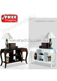 Berlin Stylish Modern New Old -Style Living Room Furniture, Wood Console Table Side Table