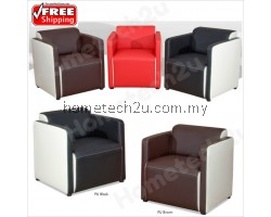 Elegant Hotel Office Lobby Sofas , Modern Italian PU Arm Chairs
