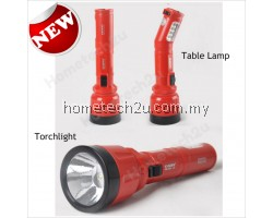 Km-8710 household flashlight rotary small table lamp dual high power led torch light