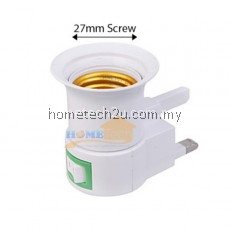 Screw Wall Lamp Holder E27 Power Reading Night Light 3 Pin UK Plug